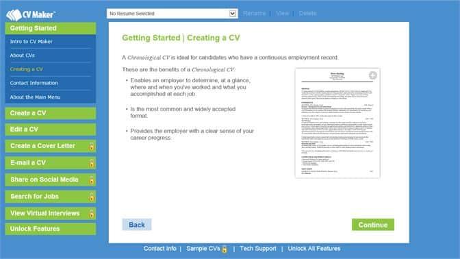 logiciel création cv