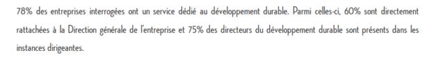 etude métiers développement durable